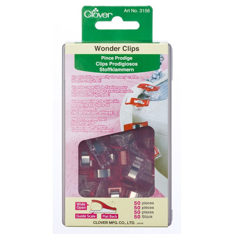 3156-CLO  Clover Wonder Clips (50pc)