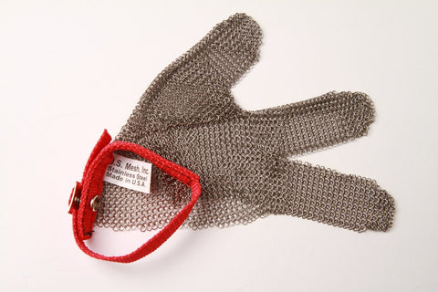 Metal Mesh Glove - 3 Finger (Left) - Medium