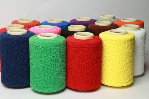 Elastic thread for smocking machines in different colors