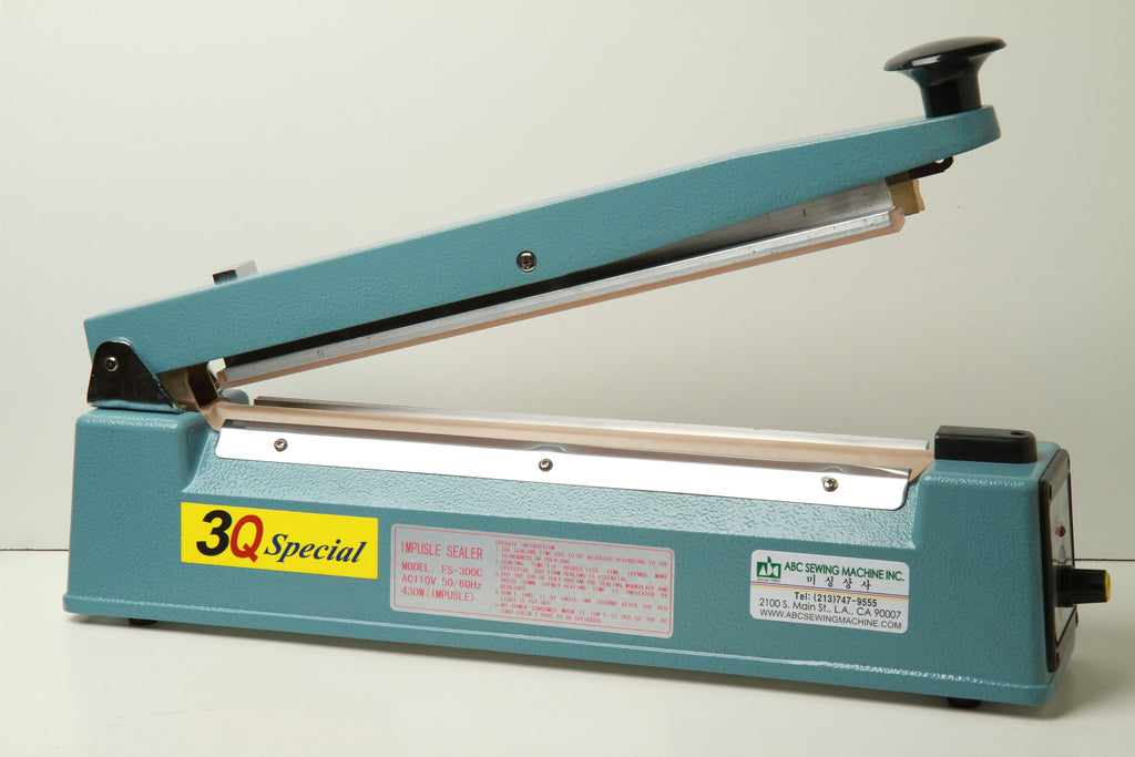 3Q Special impulse poly bag sealer full view