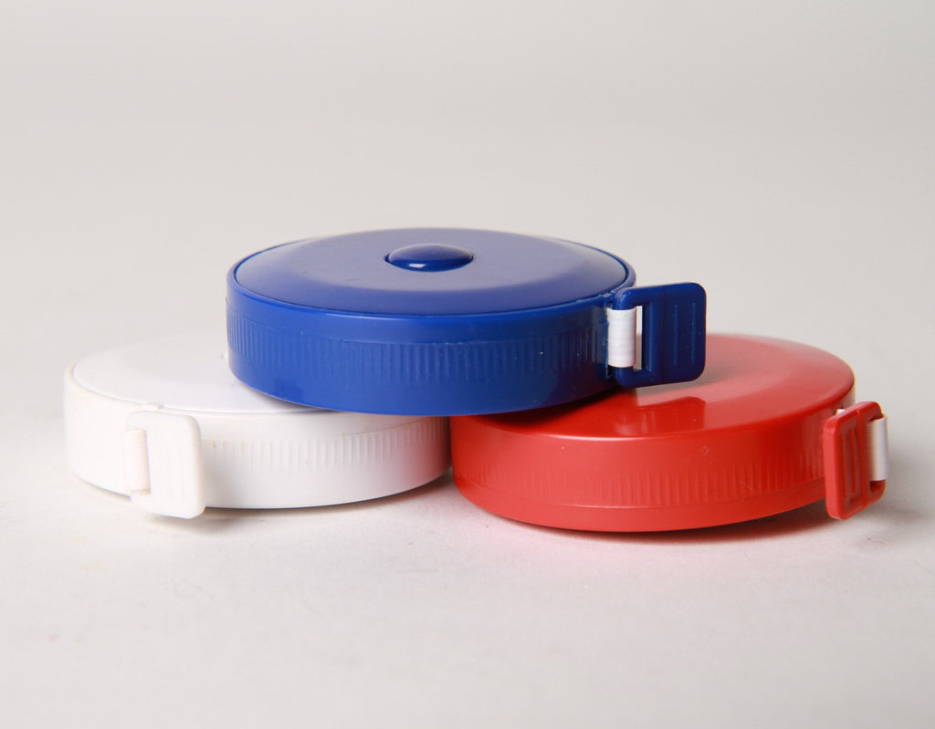 Retractable tape measure in different colors