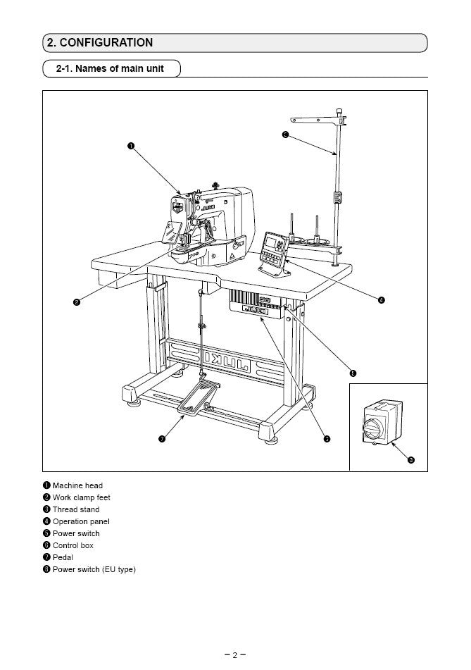 sewing machine specifications