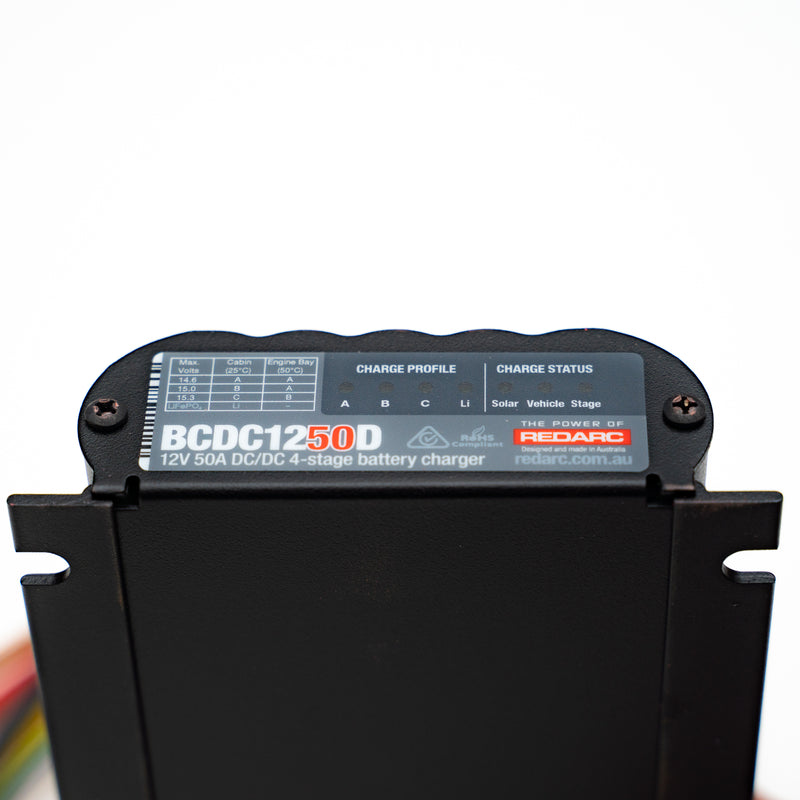 DUAL INPUT 50A IN-VEHICLE DC BATTERY CHARGER