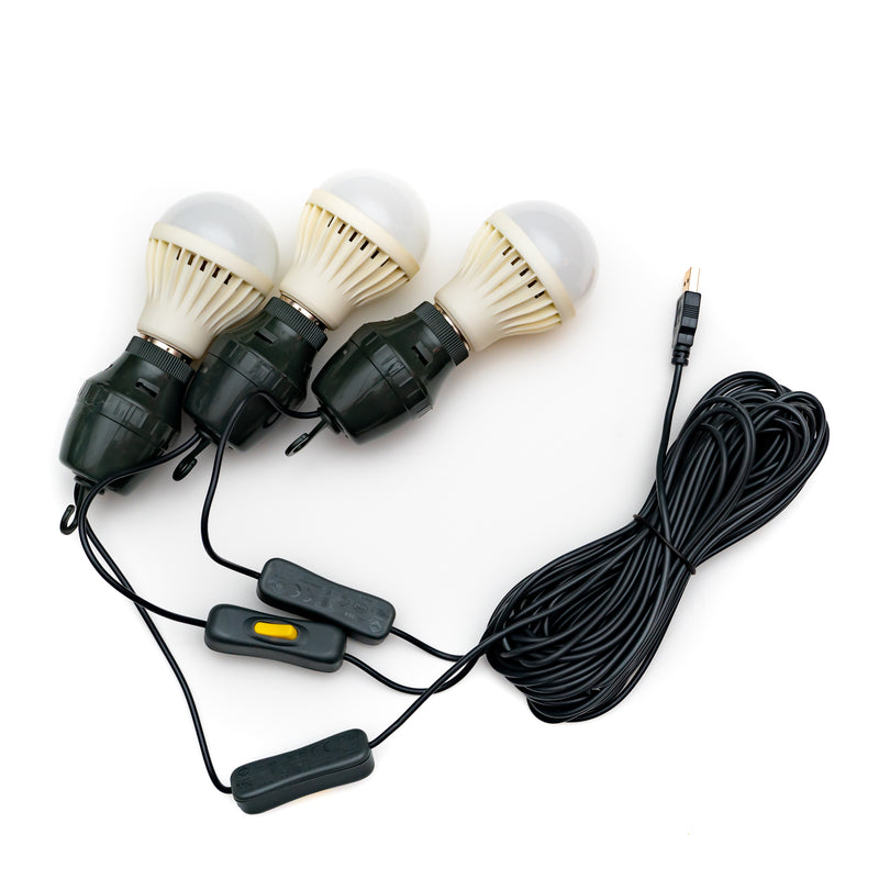 3 LED Light Bulb String