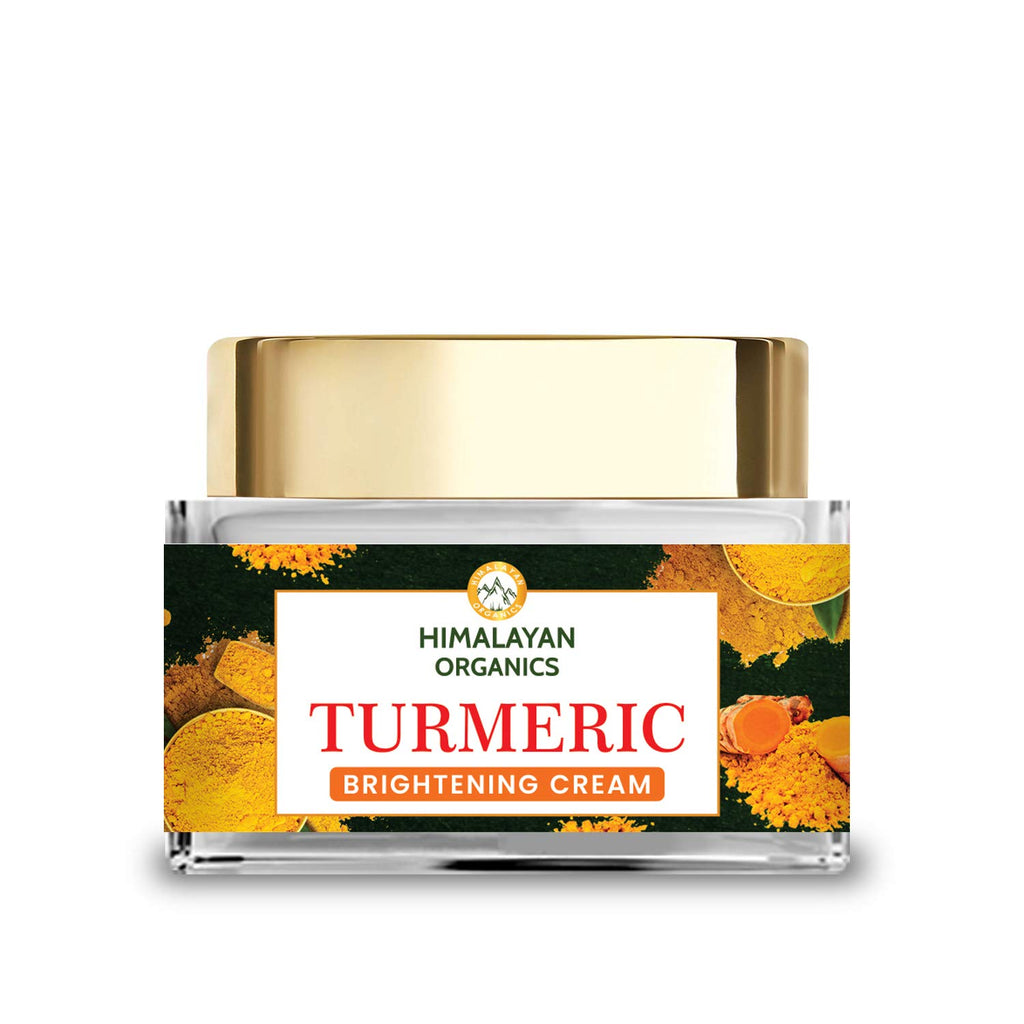 Himalayan Organics Turmeric Brightening Cream | Dark Spot Reduction | No Parabens, Silicones, Mineral Oil | 50gm