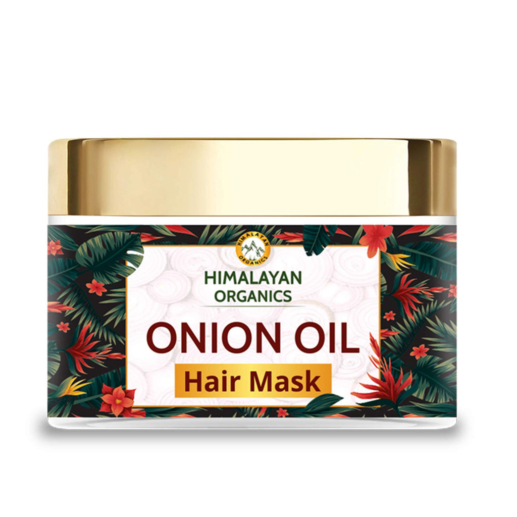 Himalayan Organics Red Onion Oil Hair Mask with Bhringraj | Parabens & Sulphate Free | 200ml