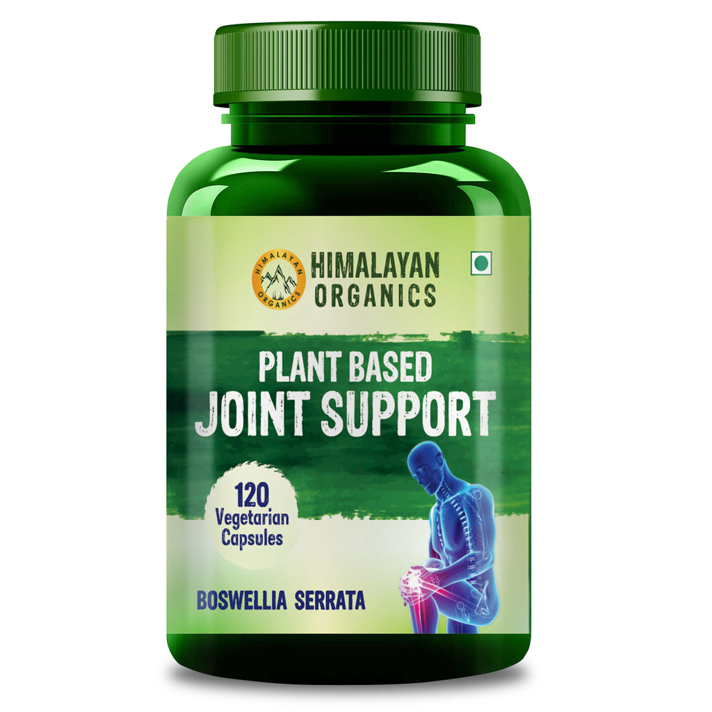 Himalayan Organics Plant Based Joint Support Supplement with Boswellia, Turmeric, Moringa & Alfalfa | Joint Pain Supplement | 120 Veg Capsules