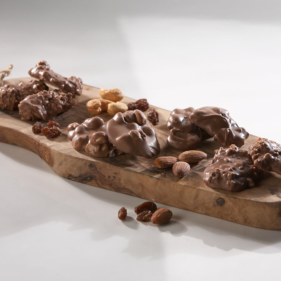 Chocolate Fruit and Nut Clusters