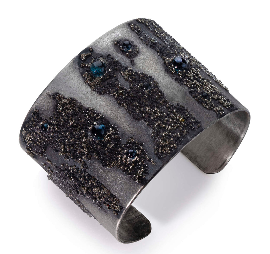 Volcanic Treassure Collection - Black & Blue Cuff