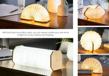 Load image into Gallery viewer, Gingko Smart Accordion Lamp - Bamboo