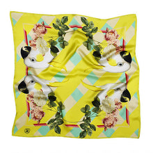Load image into Gallery viewer, PARROTS & ROSES SILK SCARF