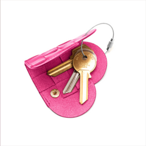 ELSKLING KEY POUCH HOT PINK LEATHER
