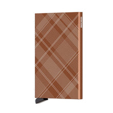 Load image into Gallery viewer, SECRID CARD PROTECTOR - LASER TARTAN RUST
