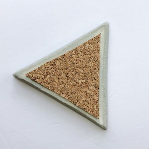 Concrete triangle tray/organiser (grey colour)