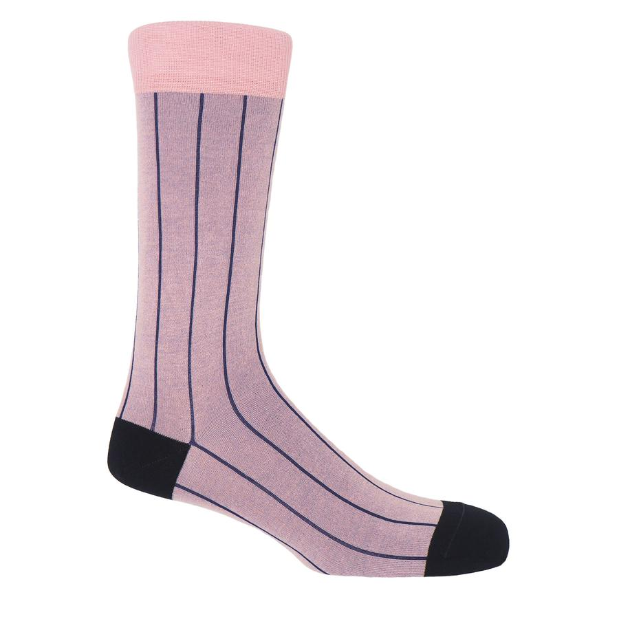 PIN STRIPE MEN'S SOCKS - PINK