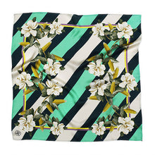 Load image into Gallery viewer, MAGNOLIA & CORN GREEN SILK SCARF