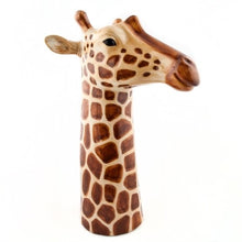 Load image into Gallery viewer, Large Hand-painted Stoneware Giraffe Vase