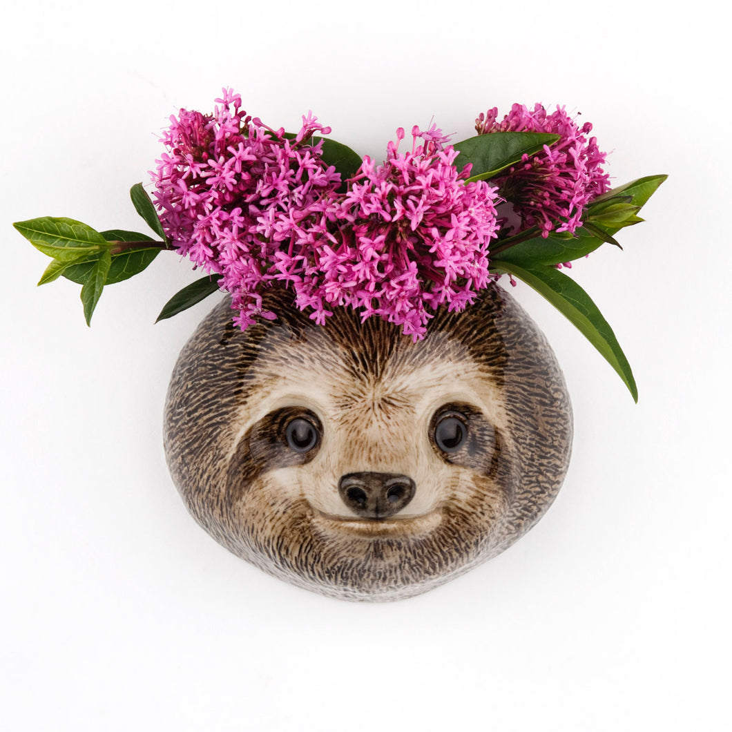 Small Sloth Wall Vase