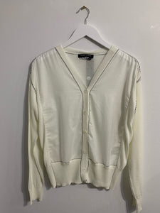 Quiz top / Cardigan - White