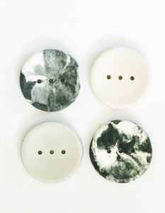 Concrete round soap dish (marble colour)