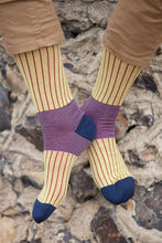 Load image into Gallery viewer, OXFORD STRIPE MEN'S SOCKS - YELLOW