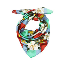 Load image into Gallery viewer, MAGNOLIA & CORN RED SILK SCARF