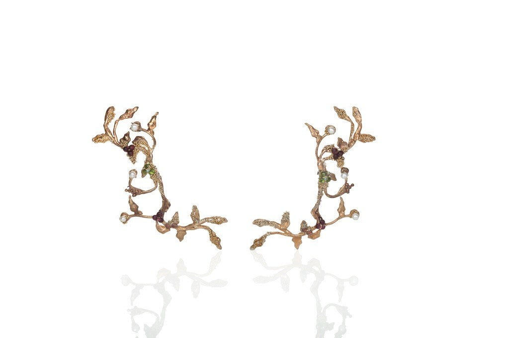 Enchanted Tree Collection - LONG BRONZE EARRINGS