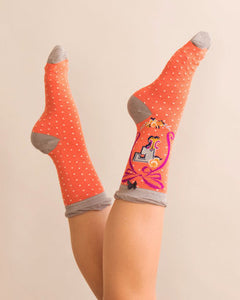 A-Z Ankle Socks - F
