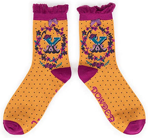 A-Z Ankle Socks - X