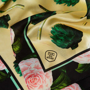 THE GROCERY COLLECTION - ARTICHOKES SILK SCARF