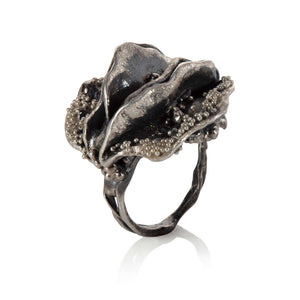 Life Leaves Collection - Oxidised big ring