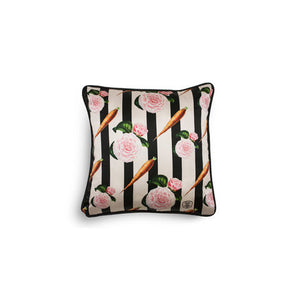 CARROTS SILK AND VELVET CUSHION - AS SEEN IN ELLE DECORATION NL
