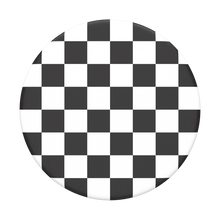 Load image into Gallery viewer, Checker Black Pop Socket