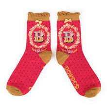 Load image into Gallery viewer, A-Z Ankle Socks - B