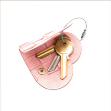 Load image into Gallery viewer, ELSKLING KEY POUCH BLUSH LEATHER £28