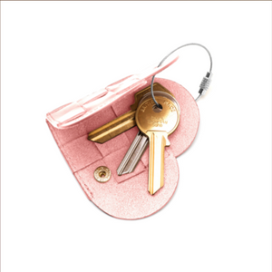 ELSKLING KEY POUCH BLUSH LEATHER £28