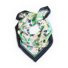 Load image into Gallery viewer, IGUAZU SILK SCARF NAVY BLUE