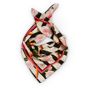 CARROTS AND ROSES SILK SCARF