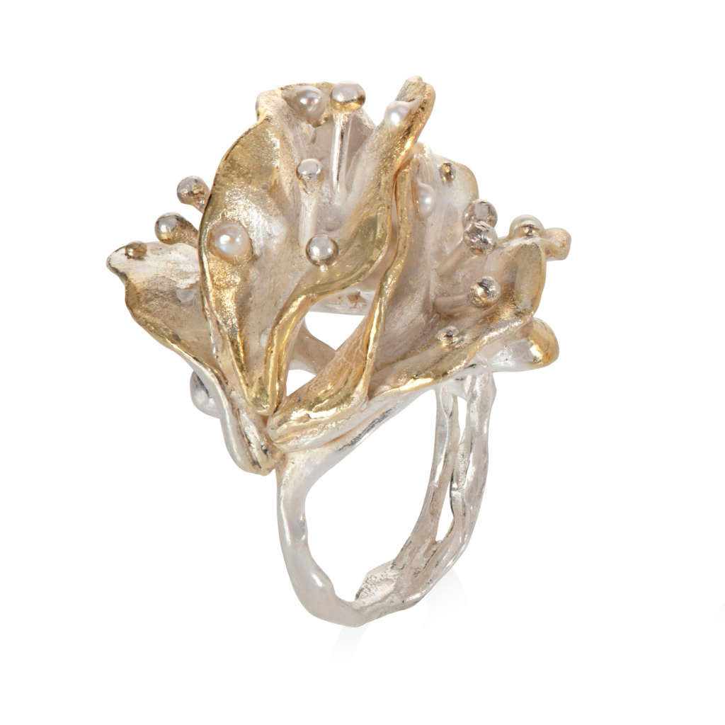Life Leaves Collection - GOLD AND SILVER BIG RING