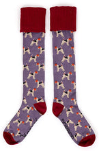 Load image into Gallery viewer, Fox Terrier Boot Socks