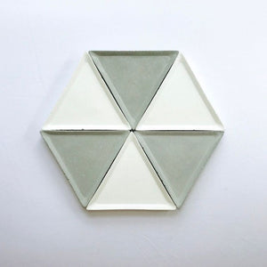 Concrete triangle tray/organiser (white colour)