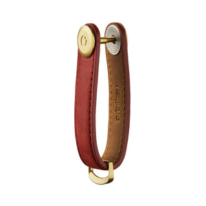 Leather Key Orgniser - Crazy Horse (Maple Red with Red Stitching)