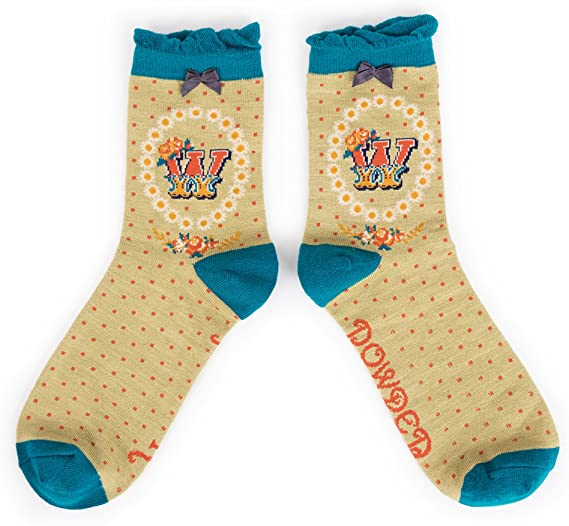 A-Z Ankle Socks - W