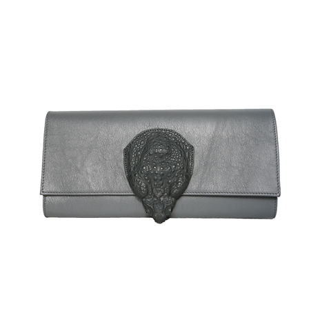 POCHETTE ARDOISE Grey Clutch bag