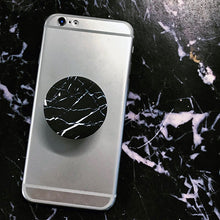 Load image into Gallery viewer, Black Marble Pop Socket