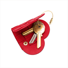 "Load image into Gallery viewer, ELSKLING KEY POUCH ""VERY RED"" LEATHER"