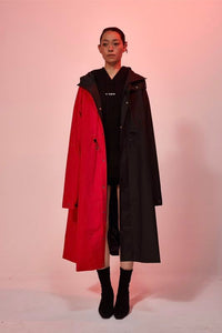 Bi-color oversize Trench coat - 2 in 1