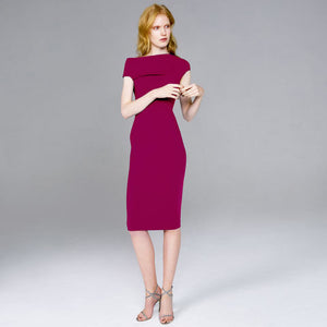 Rasberry Off Shoulder Dress