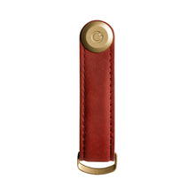 Load image into Gallery viewer, Leather Key Orgniser - Crazy Horse (Maple Red with Red Stitching)
