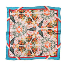 Load image into Gallery viewer, THE DINNER PARTY COLLECTION - PINEAPPLE & PRAWNS SILK SCARF